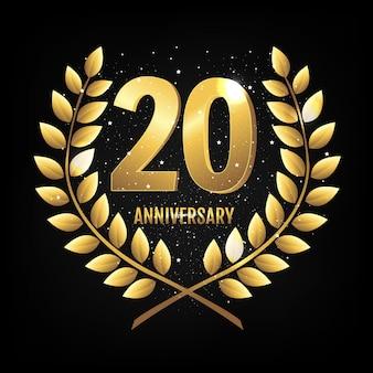 Шаблон логотипа двадцать лет