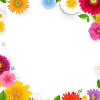 花のあるフレーム