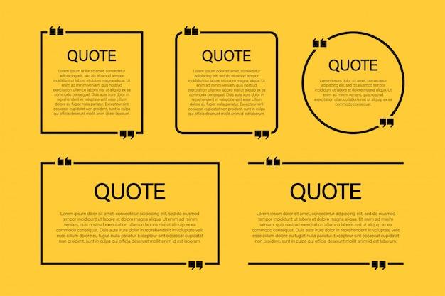 Модный блок цитата современный набор