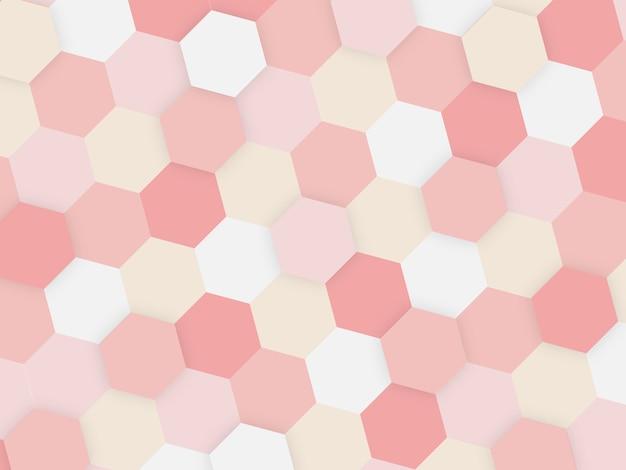 抽象的な幾何学的なタイルハニカムテクスチャ、カラフルなポリゴン、技術コンセプトの背景。