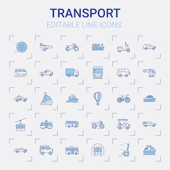 Набор иконок транспортной линии
