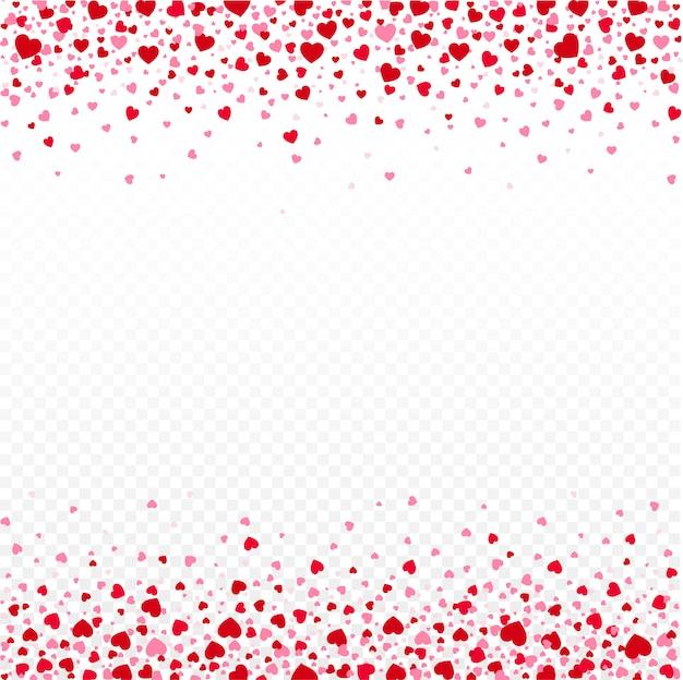 赤い紙吹雪心が落ちます。