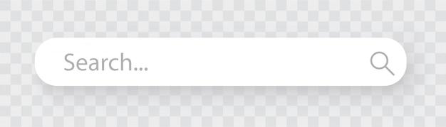検索バー、透明の影付きの検索ボックス。
