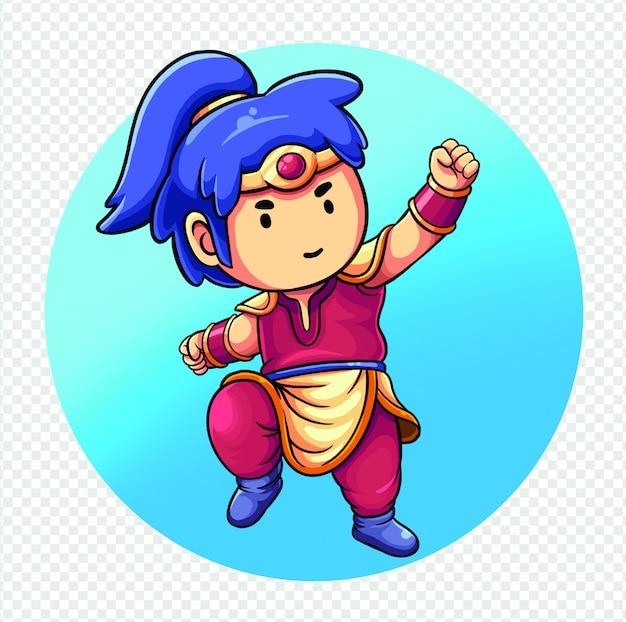 アジアの戦士かわいいイラスト