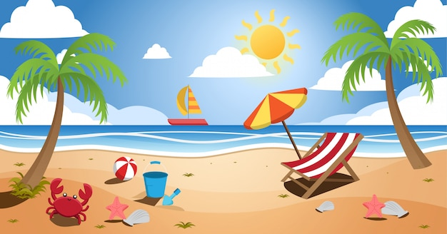 Солнечный берег летний пейзаж