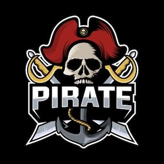 Череп пиратский логотип