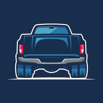 青い車の図