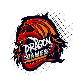 Логотип игрового дракона
