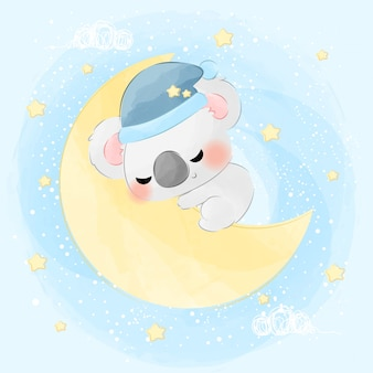 かわいい小さな眠っているコアラ