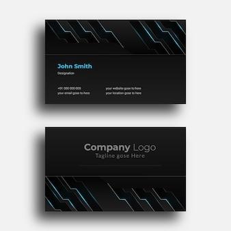 創造的な名刺のデザインテンプレート