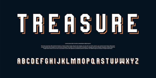 Современный сильный алфавит шрифт