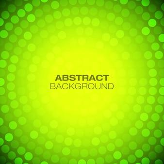 Абстрактный круговой зеленый - желтый фон.