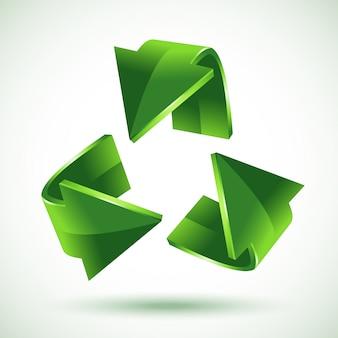 緑のリサイクル矢印