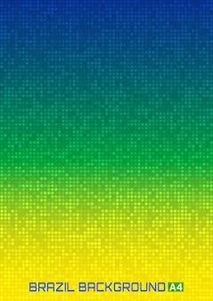 ブラジルの国旗の色を使用して抽象的なデジタル背景