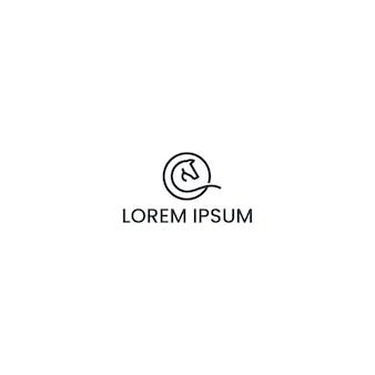 Лошадь дизайн логотипа вдохновения