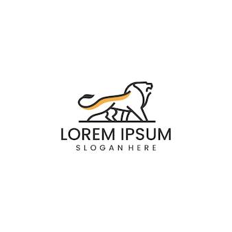 Лев дизайн логотипа вдохновения