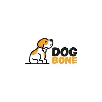 Дизайн логотипа кости собаки