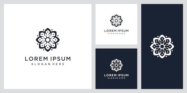 Простой и элегантный цветочный шаблон монограммы, дизайн логотипа