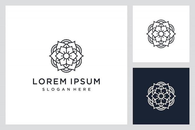 エレガントなロゴの花のインスピレーション