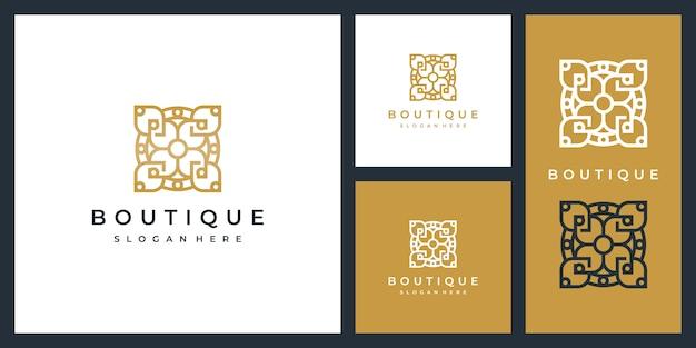 Роскошный интерьер шаблон логотипа дизайн вдохновение