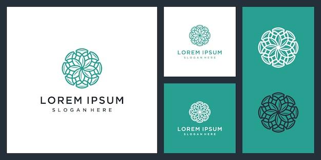 Роскошный логотип интерьер шаблона