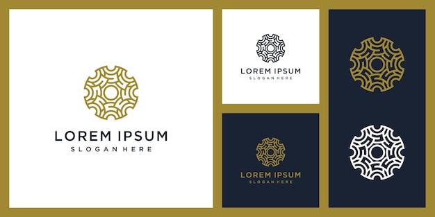 Роскошный интерьер дизайн логотипа вдохновение