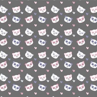 かわいいクマのシームレスパターン