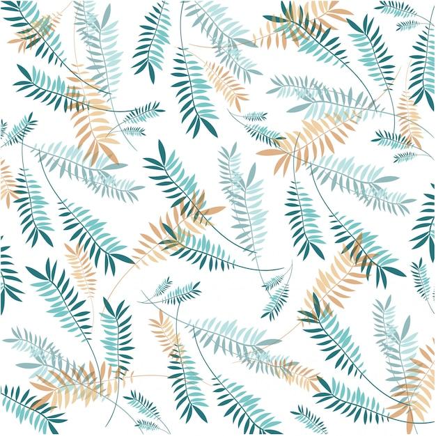 Пастельный узор с листьями
