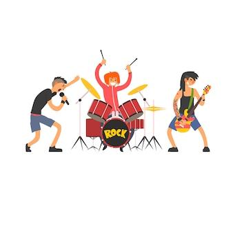 Иллюстрация рок-группы