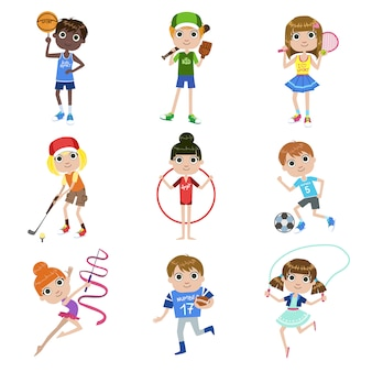 スポーツセットをしている子供