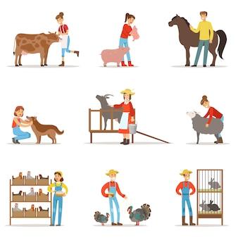 農場労働者の人々