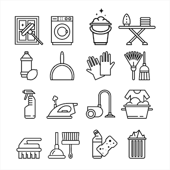 家庭用電化製品およびツールのアイコンを設定