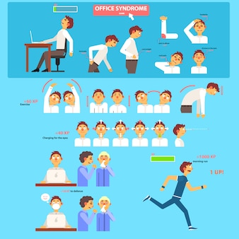 Концепция здравоохранения синдром офиса.