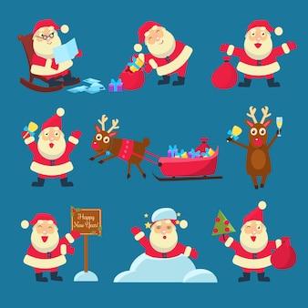 サンタ、シカ。クリスマスと新年