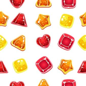 カラフルなハロウィーンのキャンディーとのシームレスな背景