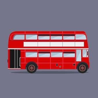 ロンドンのバス色のシルエット