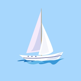 Яхта на воде.