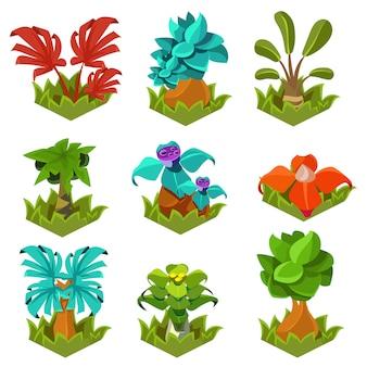 Садовые растения с цветами для игры