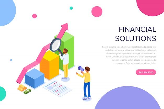 金融ソリューションのランディングページ