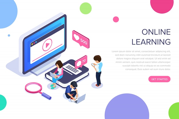 オンライン学習のランディングページ