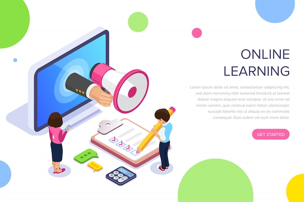 Целевая страница обучения онлайн