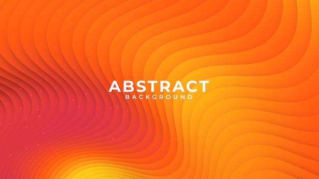Красочный градиент абстрактный волна стиль бумаги фон