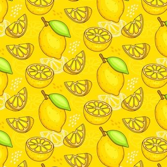 Бесшовный фон из лимонов