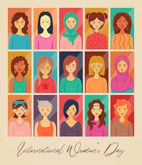 国際女性の日のイラスト