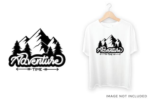 Дизайн футболки времени приключений