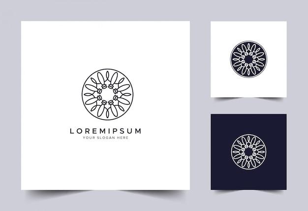 抽象的な直系のアイデンティティのロゴのテンプレート