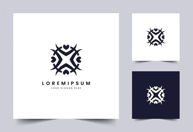抽象的なシンプルなロゴのテンプレート