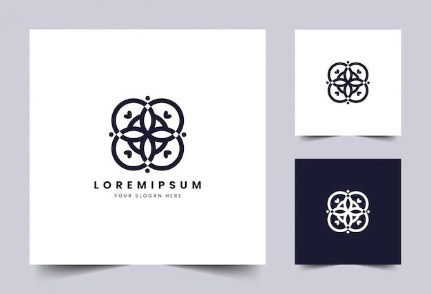 シンプルでエレガントな花のロゴのテンプレート