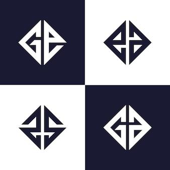 シンプルなモノグラムのロゴのテンプレート