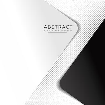 Абстрактный геометрический слой перекрытия треугольника на фоне в горошек с пространством для текста и фона дизайн.